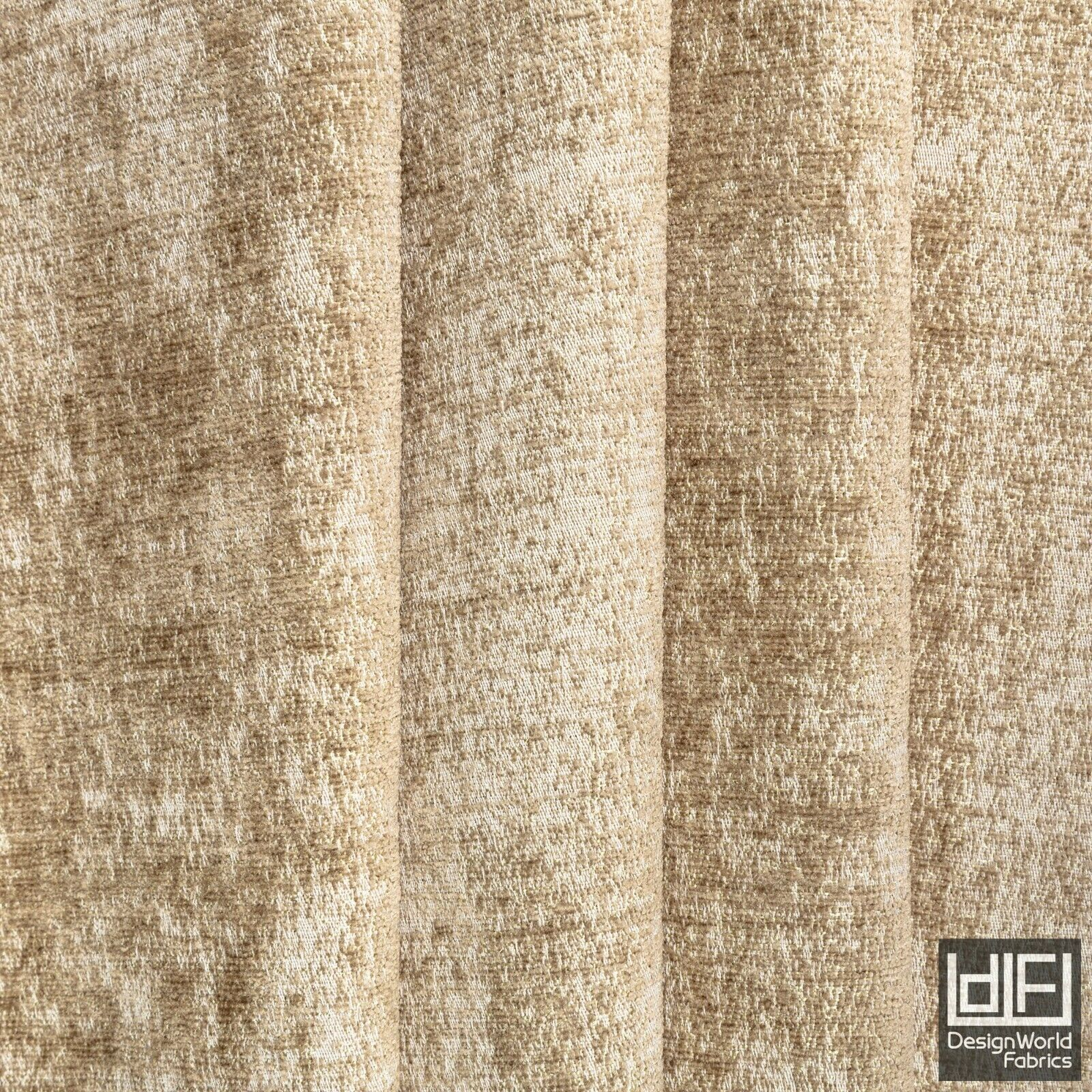 Sand Beige Curtain Fabric Textured Plain Chenille Soft Cushion Blind Material