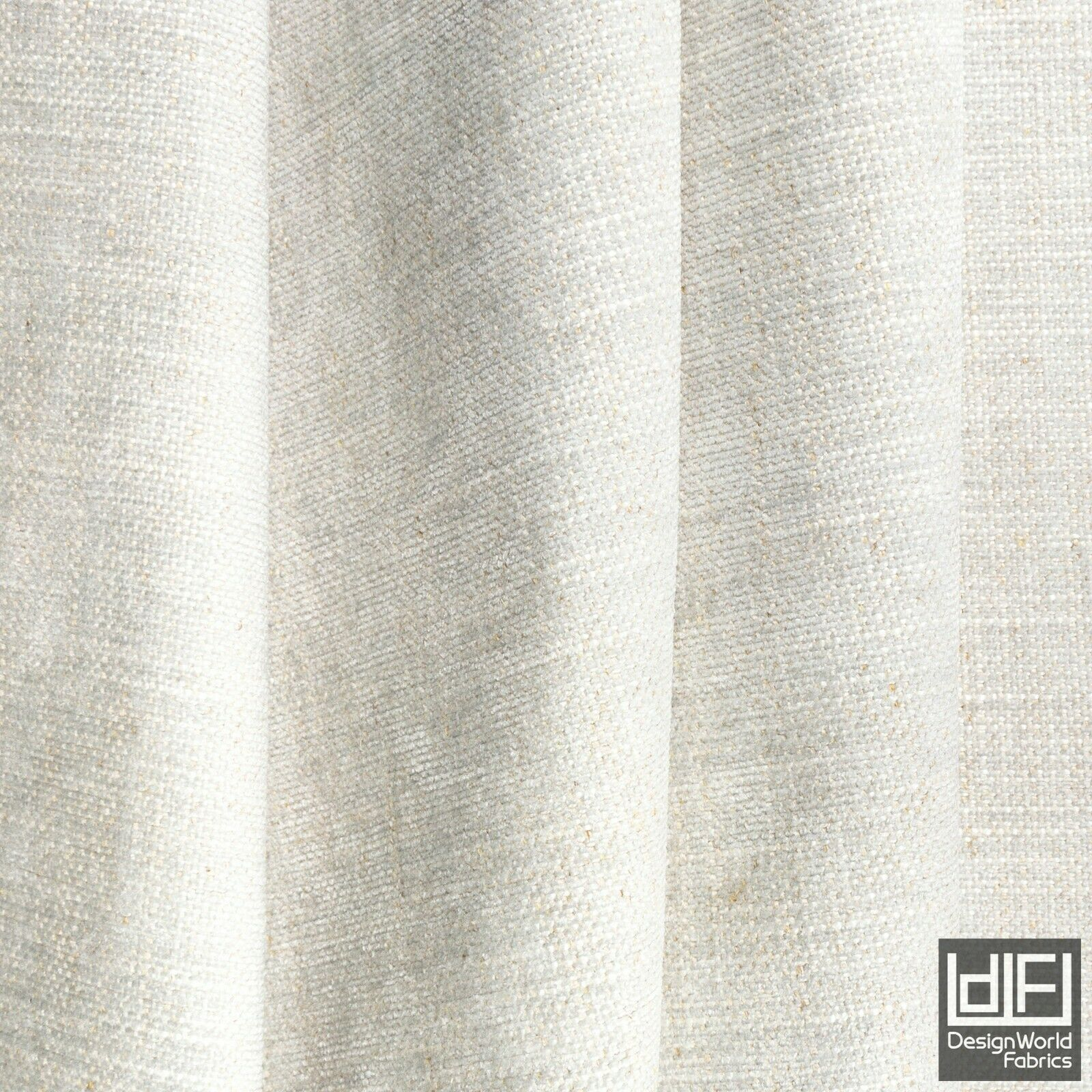 Grey Beige Curtain Fabric Textured Plain Chenille Soft Cushion Blind Material
